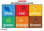 Identifying colour words poster (1 page)