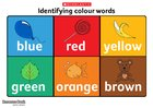 Identifying colour words poster