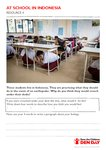 Geography resource: At school in Indonesia (1 page)