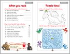 How to Train Your Dragon 2 - activity sample page (1 page)