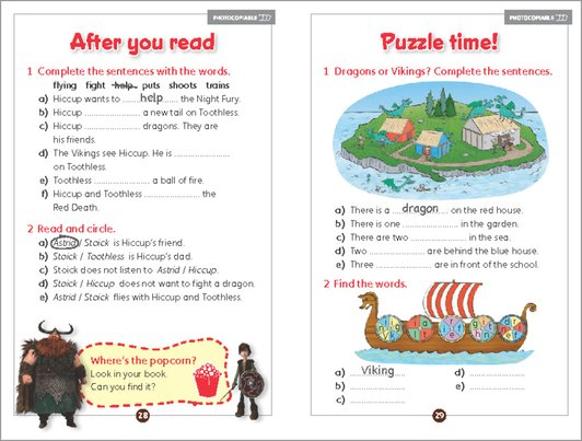 How to Train Your Dragon - activity sample page