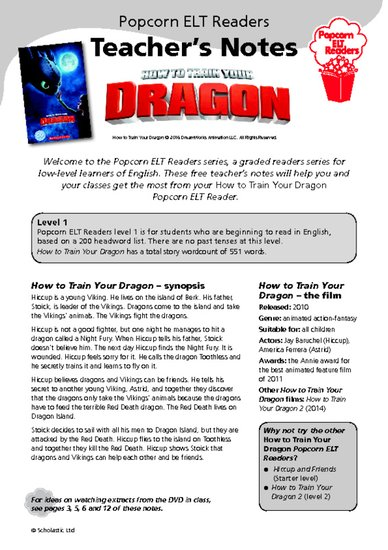 How to Train Your Dragon - Teacher's Notes