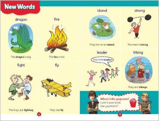 Hiccup and Friends - New Words sample page