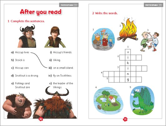 Hiccup and Friends - activity sample page