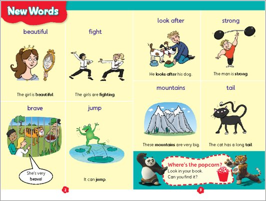 The Animals of Kung Fu Panda - New Words sample page