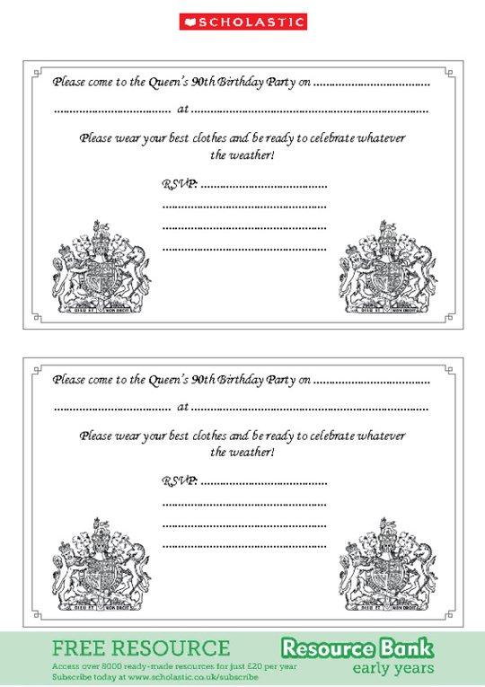 Queen S 90th Birthday Party Invitations Scholastic Shop