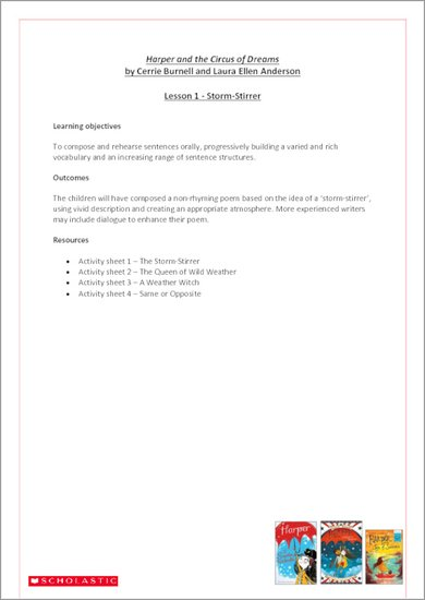 Harper and the Circus of Dreams Lesson Plans