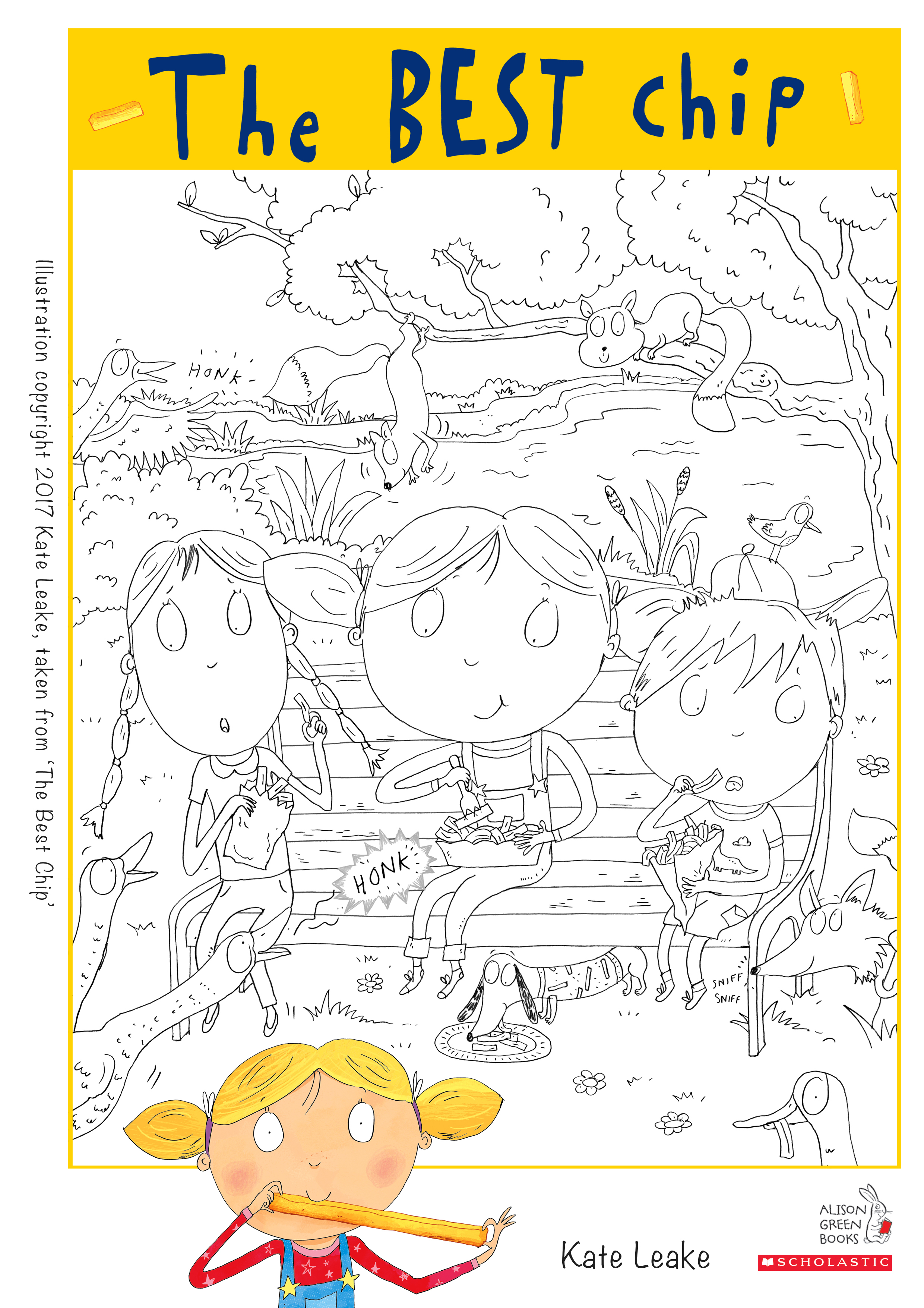 The best chip colouring activity sheet 1636763