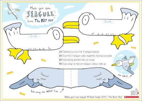 The Best Chip Make a Seagull Activity Sheet