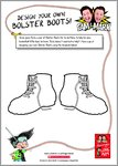 The Adventures of Long Arm - Design your own Bolster Boots (1 page)