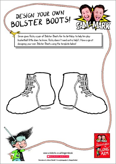 The Adventures of Long Arm - Design your own Bolster Boots