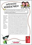 The Adventures of Long Arm - Superhero wordsearch (1 page)
