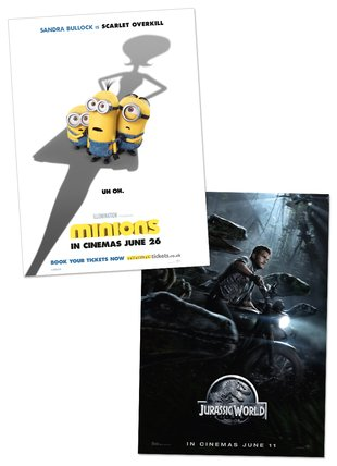 Minions/Jurassic World Mini Poster
