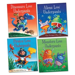 Aliens Love Underpants Pack x 4