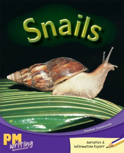 PM Writing 3: Snails (PM Purple/Gold) Levels 20, 21 x 6
