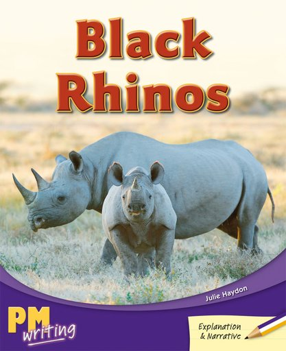 PM Writing 3: Black Rhinos (PM Purple/Gold) Levels 20, 21 x 6