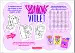 Shrinking Violet Free Activity (1 page)