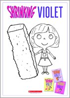Shrinking violet colouring sheets act col 1341371