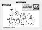 Superworm Colouring Activity Sheet (1 page)