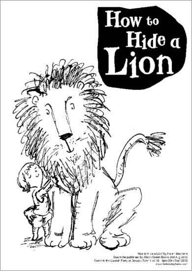 How to Hide a Lion Colouring Activity Sheet