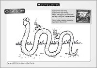 Superworm Colouring Activity Sheet