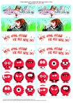 Red Nose Day stickers (1 page)
