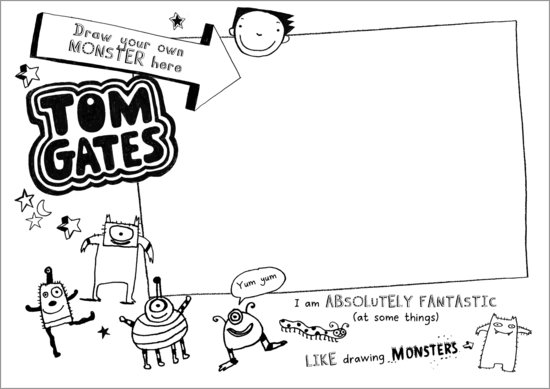 Tom Gates activity sheet