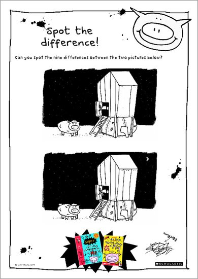 Pig - spot the difference activity sheets