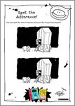 Pig - spot the difference activity sheets (4 pages)