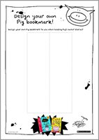 Design your own pig bookmark act free 1325119