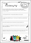 Pig activity sheets (10 pages)