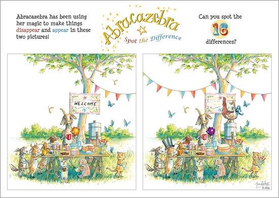 Abracazebra - Spot the difference activity