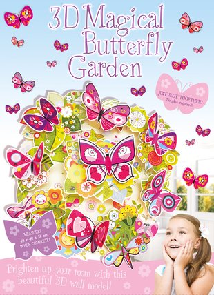3D Magical Butterfly Garden