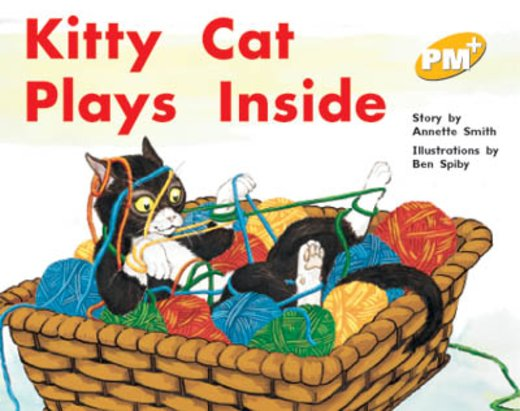PM Yellow: Kitty Cat Plays Inside (PM Plus Storybooks) Level 8 x 6