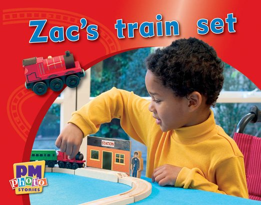 PM Magenta: Zac's Train Set (PM Photo Stories) Levels 2, 3 x 6