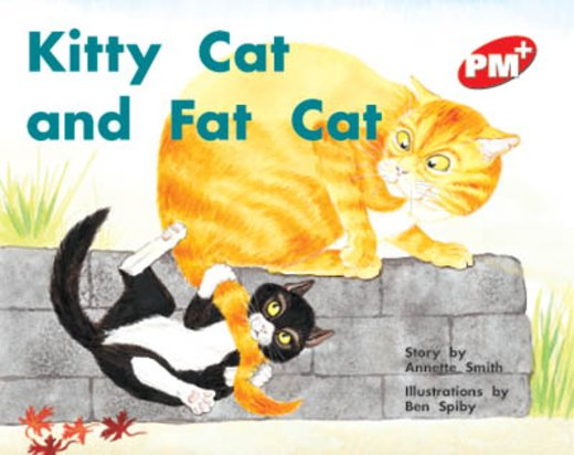 PM Red: Kitty Cat and Fat Cat (PM Plus Storybooks) Level 5 x 6
