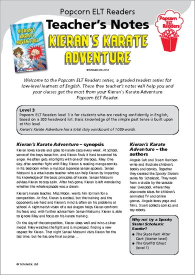 Kieran's Karate Adventure: Teacher's Notes