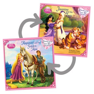Disney Princess: Rapunzel and the Golden Rule/Jasmine and the Two Tigers Flip Book