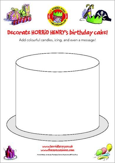 Horrid Henry's Birthday Cake