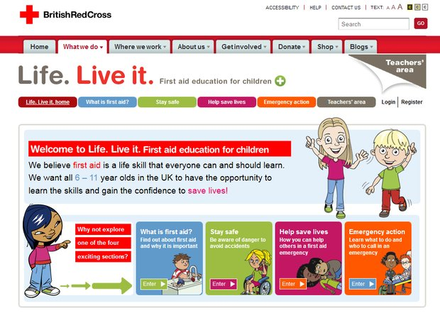 British Red Cross: Life. Live it.
