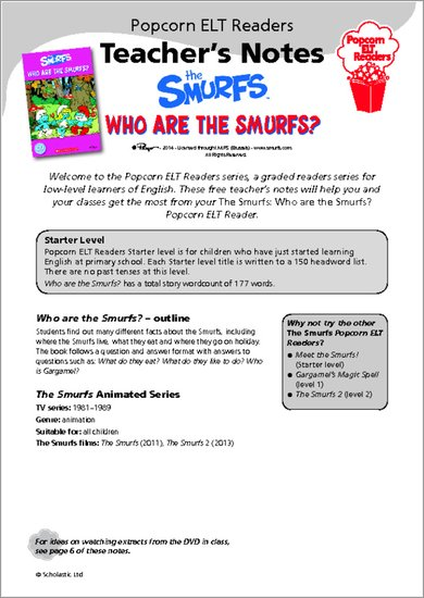 Who Are the Smurfs - Teacher's Notes