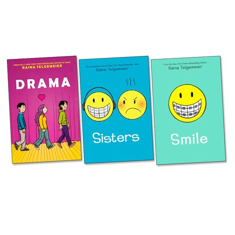 Raina Telgemeier Graphic Novels Trio