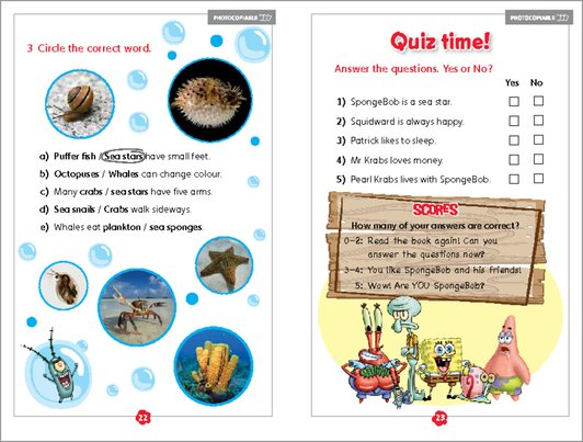 SpongeBob Squarepants: Underwater Friends - Sample Activity