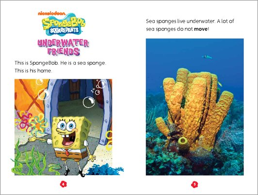 SpongeBob Squarepants: Underwater Friends - Sample Page