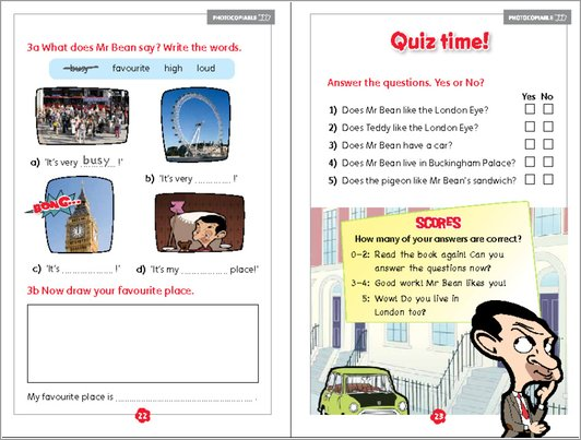 Mr Bean's Guide to London - Sample Activity