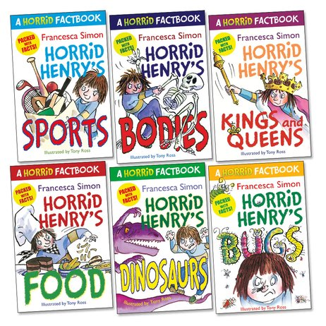 Horrid Henry Factbooks Pack x 6