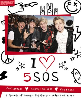 I Heart 5SOS Lockable Journal