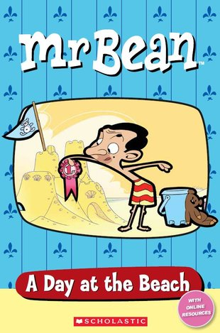 Popcorn Elt Primary Readers Starter Level Level 1 Mr Bean A Day At The Beach Book Only