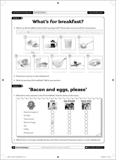Interactive Vocabulary - Sample Activities