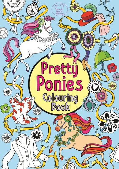 Pretty Ponies Colouring Book